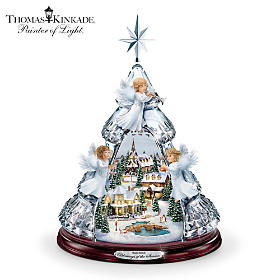 Thomas Kinkade Blessings Of The Season Tabletop Tree