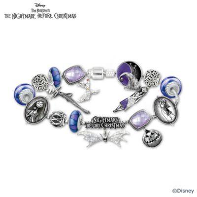 Bracelet Tim Burtons The Nightmare Before Christmas Beaded Glass Charm Bracelet