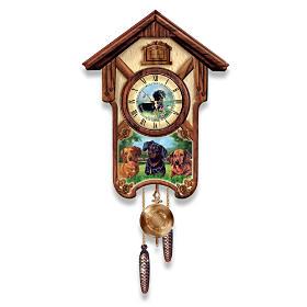 Delightful Dachshunds Cuckoo Clock