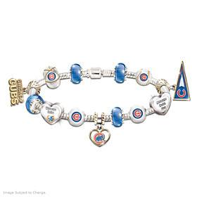 Go Cubs! #1 Fan Charm Bracelet