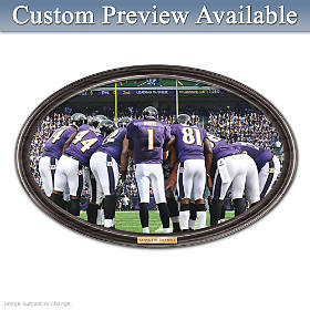 Going The Distance Baltimore Ravens Personalized Wall Decor