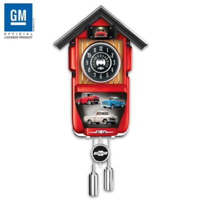 Handcrafted chevrolet pickup truck wall clock with light and sound aloadofball Image collections