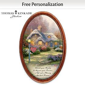 Thomas Kinkade Family Treasures Personalized Collector Plate