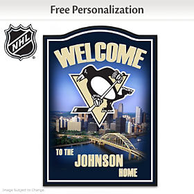 Pittsburgh Penguins® Personalized Welcome Sign