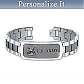 U.S. Army Personalized Men's Bracelet