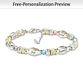 Sparkling Wishes Personalized Bracelet