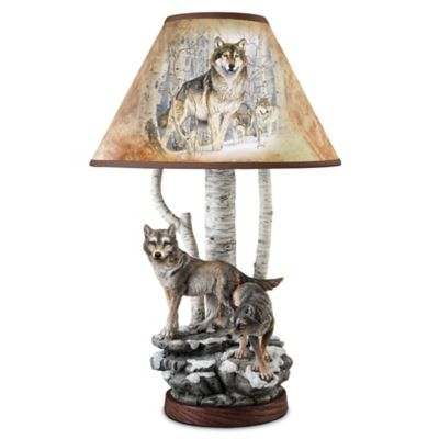 Lamp Spirits Of The Forest Al Agnew Wolf Lamp