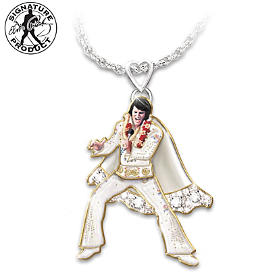 Hip Shakin' Elvis Pendant Necklace