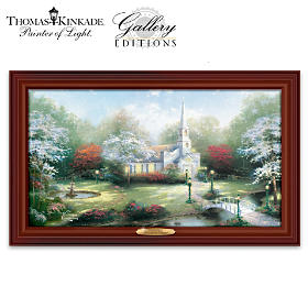 Thomas Kinkade Hometown Chapel Wall Decor