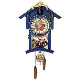 Semper Fi For All Time Cuckoo Clock