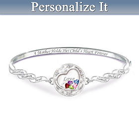 A Mother Holds Her Child's Heart Personalized Bracelet