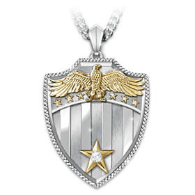 Free Because Of The Brave Diamond Pendant Necklace