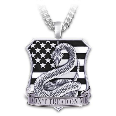 Necklace american pride dont tread on me mens pendant necklace aloadofball Images