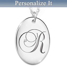Precious Daughter Personalized Diamond Pendant Necklace