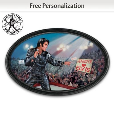 Bruce Emmett Elvis Art Collector Plate With Your Name by
