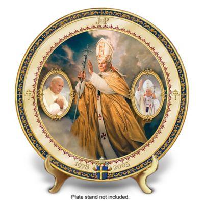 Saint John Paul II Commemorative Porcelain Collector Plate by