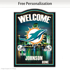 Miami Dolphins Personalized Welcome Sign