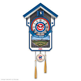 Chicago Cubs Cuckoo Clock