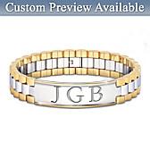 Always, My Grandson Personalized Men's Bracelet