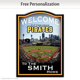 Pittsburgh Pirates Personalized Welcome Sign