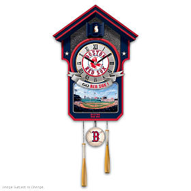 Boston Red Sox Cuckoo Clock