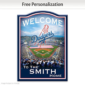 Los Angeles Dodgers Personalized Welcome Sign
