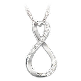Forever My Daughter Diamond Pendant Necklace