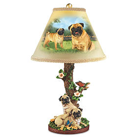 Playful Pugs Lamp