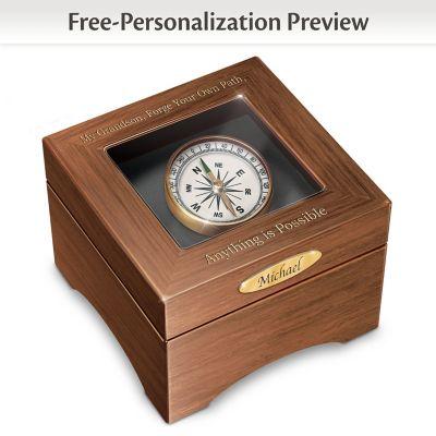 Keepsake Box Grandson Forge Your Path Personalized Shadowbox Keepsake Box