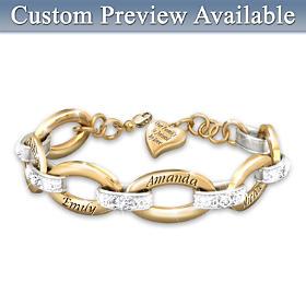 Joined By Love Personalized Diamond Bracelet