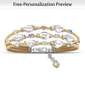 The Strength Of Family Personalized Bracelet