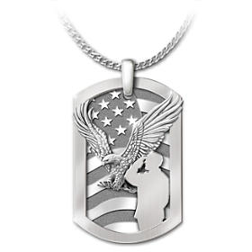 Service Before Self Pendant Necklace