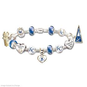 Go Royals! #1 Fan Charm Bracelet