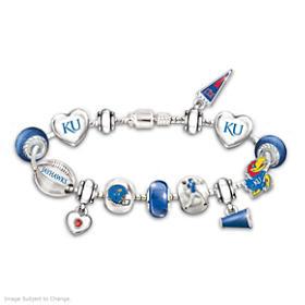 Go Jayhawks! #1 Fan Charm Bracelet