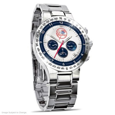 cd9d7a05d8c New York Yankees Collectors Stainless Steel Mens Watch