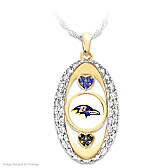 For The Love Of The Game Ravens Pendant Necklace