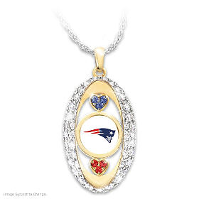 For The Love Of The Game Patriots Pendant Necklace