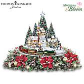 Thomas Kinkade Holidays Bring You Home Table Centerpiece