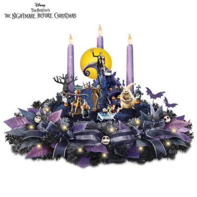 disney the nightmare before christmas light up table centerpiece