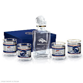 Denver Broncos Decanter Set