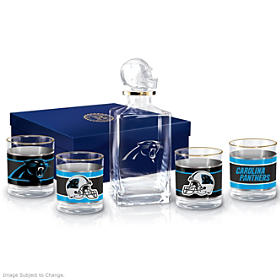Carolina Panthers Decanter Set