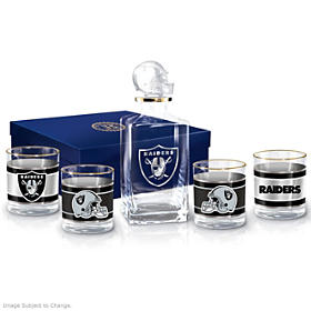 Oakland Raiders Decanter Set