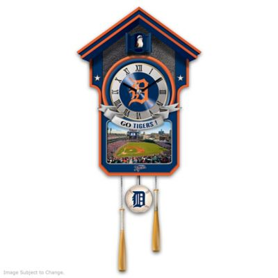Detroit Tigers Tribute Wall Clock by