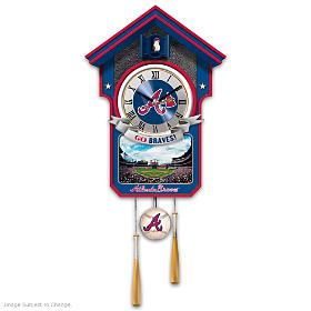 Atlanta Braves Cuckoo Clock