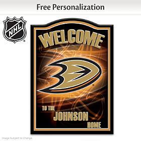 Anaheim Ducks® Personalized Welcome Sign