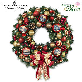 Thomas Kinkade Season Of Splendor Wreath