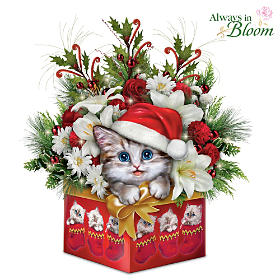 Have Yourself A Meowy Little Christmas Table Centerpiece
