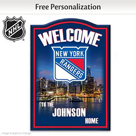 New York Rangers® Personalized Welcome Sign