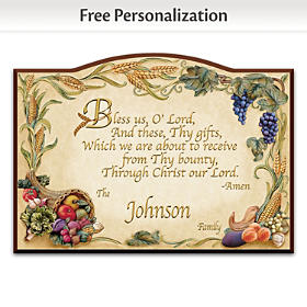 Bless Us O Lord Personalized Welcome Sign