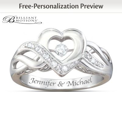 Dance Of Love Personalized Brilliant Motions Diamond Ring by